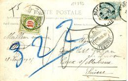 N°17373 -carte Postale Taxée Départ Dijon Pour Caux Sur Montreux- - Taxe