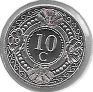 *neth Antilles 10 Cents  1993 Km 34   Bu - Netherland Antilles