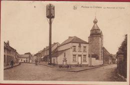Merbes-le-Château Le Monument Et L'eglise Hainaut RARE (dommages) - Merbes-le-Château