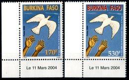 "BURKINA FASO  2004  MNH  -   "" JOURNEE NATIONALE DU PARDON ""  -   2  VAL. - Burkina Faso (1984-...)"