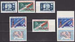 USSR RUSSIA MNH (**) Set 1961 Y. MICHEL # 2473-2475 A,B  SPACE GAGARIN Rocket Sputnik - 1923-1991 URSS