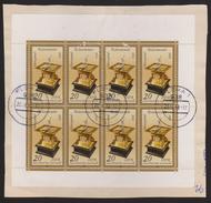 M 481) DDR 1983 Mi# 2798 KB O Briefausschnitt: Horizontal-Tisch-Sonnenuhr Uhr (Flöha) - Uhrmacherei