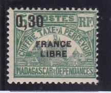 Madagascar Taxe N° 28 Neuf * FRANCE LIBRE - Madagascar (1889-1960)