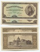 Hongrie Hungary Ungarn 100.000.000 Pengo AUNC / UNC 1946 - 2 Consecutives - Hungary