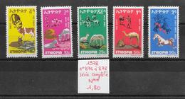 Animaux Divers Ferme élevage - Ethiopie N°874 à 878 1978 ** - Farm