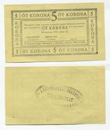Hongrie Hungary Ungarn 5 Korona 1919 SAROSPATAK - AUNC / UNC Notgeld - Hongrie