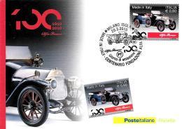 [MD0661] CPM - CENTENARIO DEL MARCHIO ALFA ROMEO - POSTE ITALIANE - CON ANNULLO 20.3.2010 - NV - Cartoline