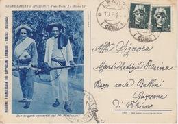 """CARTOLINA - """"DUE BRIGANTI CONVERTITI DAI PP. MISSIONARI""""-MISSIONE FRANCESCANA DEI CAPPUCCINI LOMBARDI-BRASILE (MARANHAO) - Missionen"""