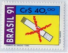 PIA  -  BRASILE  -  1991 : Lotta Contro Il Fumo, La Droga E L'alcool -  (YV 2012-14) - Pollution