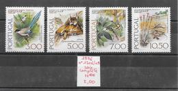 Animaux Divers - Geai Lézard Lynx Mésange Portugal N°1306 à 1309 1976 ** - Stamps