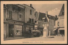 INDRE:  St-GAULTIER, Place Du Marché - Autres Communes