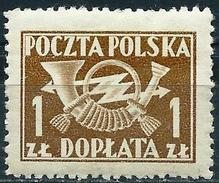 Poland 1949 - Postage Due : Posthorn ( Mi P104A - YT T115 ) MNH** - Strafport