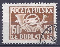 Poland 1949 - Postage Due : Posthorn ( Mi P1113A - YT T118 ) - Strafport