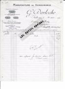 80 - Somme -  AULT - Facture DERLOCHE - Manufacture De Serrurerie - 1922 - REF 262D - 1900 – 1949