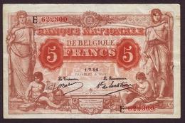 BELGIQUE - 5 FRANCS Marron / Orange Du 01/07/1914. - [ 2] 1831-... : Belgian Kingdom