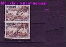 1215 Variétébleu Clair Tenant Normal  ** - Variedades: 1960-69 Nuevos