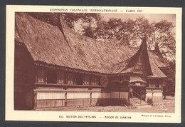 Exposition Coloniale Inter. 1931 - Section Des Pays-Bas - Maison De Sumatra - N°442 - Voir 2 Scans - Esposizioni