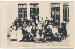 COUTRAS - Carte Photo Légendée - Blessés Militaires, Guerre 1915 - Altri Comuni