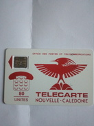 NOUVELLE CALEDONIE NC2Ba CAGOU ROUGE 80U SC5 AE UT N° 22798  IMPACTS RARE