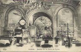 CPA De PARIS - Buffet De La Gare De Lyon. - Métro Parisien, Gares