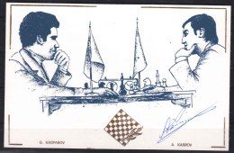 Autograph Of World Chess Champion 1975/1985 - Anatoly Karpov On A Special Card From 1994 - Historical Famous People