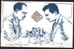 Autograph Of World Chess Champion 1948/1963 - Botvinik Mikhal On A Special Card From 1994 - Historical Famous People