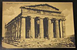 Alte Ansichtskarte Gel. 1910 Girgenti Sizilien Italien Dorischer Tempel Bauwerk Ganzsache - Gebäude & Architektur