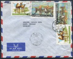 Liban Lebanon Camels Paintings Airmail Cover - Germany - Lebanon