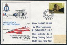 1971 GB Holyhead RAF Royal Air Force Valley Flight Cover - 1952-.... (Elizabeth II)