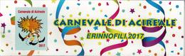Acireale, Catania, Erinnofili Carnevale 2017, Il Più Bel Carnevale Di Sicilia - Vignetten (Erinnophilie)