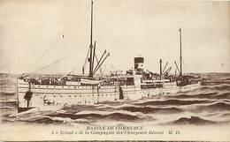 Themes Div Ref P504- Bateaux - Bateau Marine De Commerce - Tchad *- De La Cie Des Chargeurs Reunis  - - Commerce