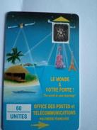 POLYNESIE PF4A 60U SC4 UT TROU 7 LE MONDE A VOTRE PORTE  N° 27520 IMPACTS RARE - French Polynesia