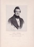 MAASTRICHT Franz CORNELI Rimbourg 1800 - Ans 1855 Député De Maastricht 1836-1839 Burgemeester Grande Litho 1838 - Historical Documents