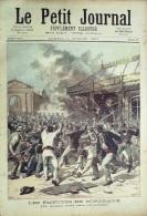 LE PETIT JOURNAL-1891- 33-EMEUTES BORDEAUX-FRANCFORT/MEIN DEVORE D'un OURS BLANC - Journaux - Quotidiens