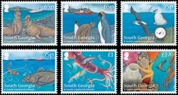 SOUTH GEORGIA 2012 Penguins, Birds, Squid, Marine Life, Fauna MNH - South Georgia