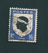 N° 755 Blason De Corse  Bleu Foncé    France Oblitéré 1946 - Varietà E Curiosità