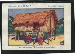 Chromo Indochine Habitation Moi Pub: Cémoi 75x50mm Bien - Cioccolato