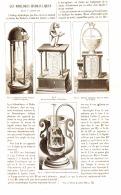 "LES HORLOGES HYDRAULIQUES  "" Dans L'antiquité  ""    1884 - Clocks"