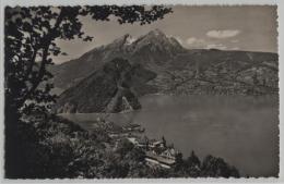Hotel Fürigen über Dem Vierwaldstättersee Mit Pilatus - Photoglob No. 04501 - NW Nidwald