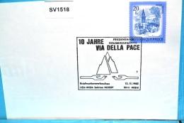 SV1518 10 Jahre Friedensweg Via Della Pace, Dolomiten, 1010 Wien 13.11.1982 / 1 - Machine Stamps (ATM)