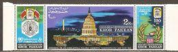 Khor Fakkan 1966 Mi# 77-79 A ** MNH - Strip Of 3 - International Stamp Exhibition SIPEX, Washington - Khor Fakkan