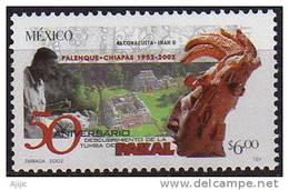 Decouverte De La Tombe De Pakal. Roi Maya A Palenque. 1 T-p ** Mexique 2002 Scott # 2283 - Archéologie