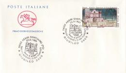 1999 ITALIA - 09 BASILICA SAN FRANCESCO - FDC CAVALLINO - ANNULLO ASSISI SANTUARIO - 6. 1946-.. Repubblica