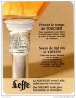 Leffe. Prenez Le Temps De Toucher. Neen De Tijd Om Te Voelen. Le Nouveau Verre Leffe. Het Nieuwe Leffe Glas. Redécouvrez - Sous-bocks