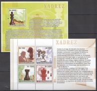 G135 2007 S.TOME E PRINCIPE CHESS XADREZ KB+BL MNH - Stamps