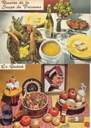 Lot 2 CPSM/gf  RECETTES (Cuisine).  La Soupe De Poissons  /  La Goulash ...E515 - Ricette Di Cucina