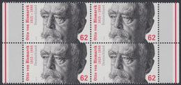 !a! GERMANY 2015 Mi. 3145 MNH BLOCK W/ Right & Left Margins -Otto Von Bismarck - Ungebraucht