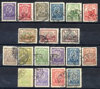 LITHUANIA 1923 Definitive Sets With New Values And Changes Of Watermark Used.  Michel 187-95, 209-14, 216-19 - Lithuania