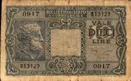 ITALIE BILLET D ETAT 10 LIRE Du 23-11-1944  Pick 32 - [ 2] 1946-… : Républic