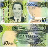 Botswana 10 Pula, UNC, PIK NEW, 2009 Banknote - Botswana